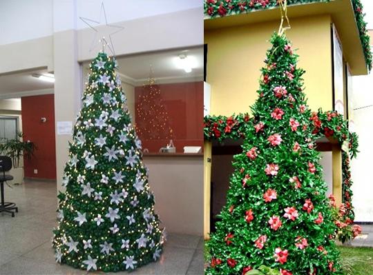 Artesanato: Árvore de Natal de Garrafa Pet - 02