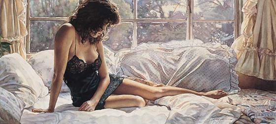 A sensualidade feminina nas pinturas de Steve Hanks - 02
