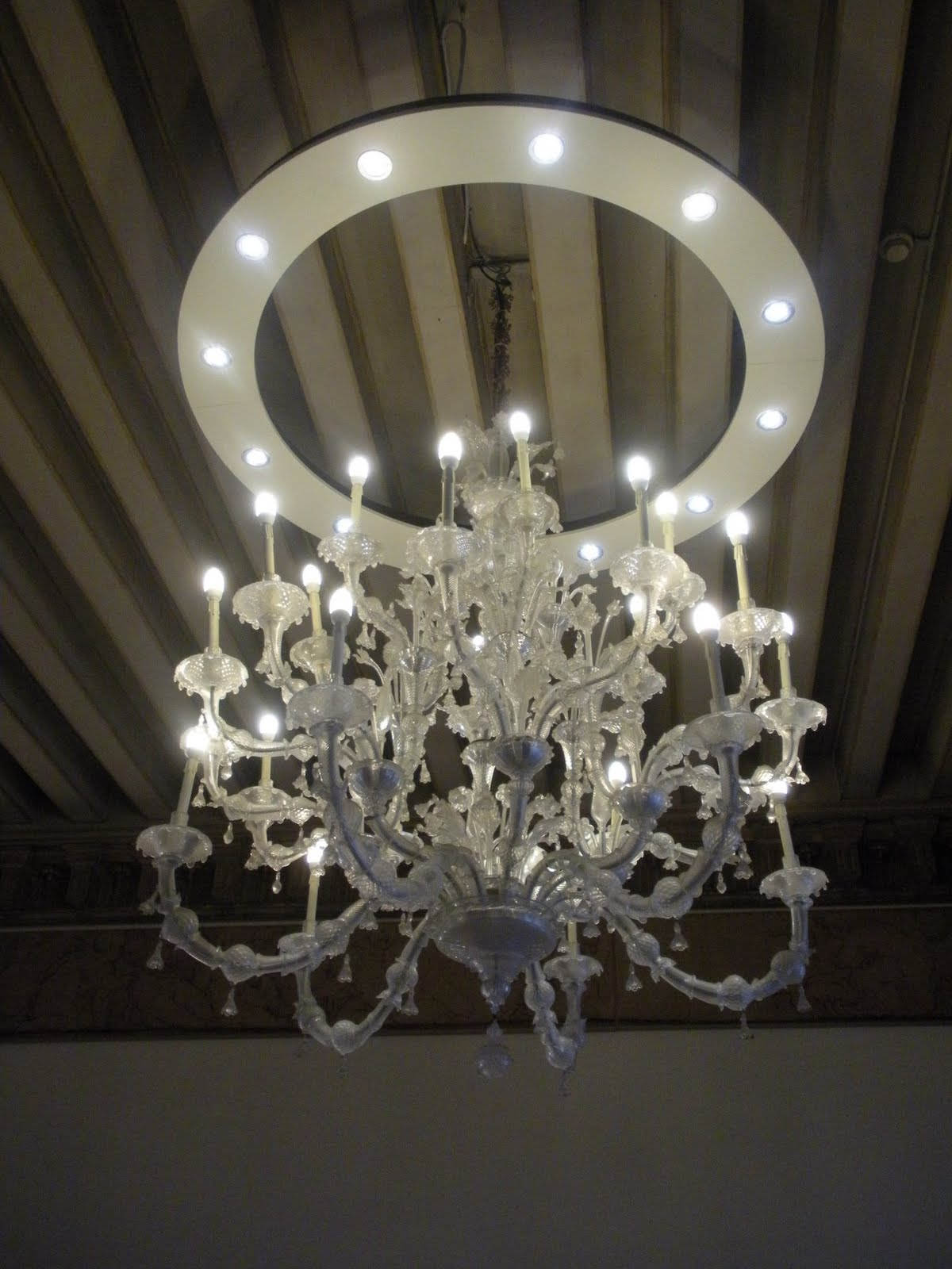 Felt Inspired Venetian Glass Chandeliers