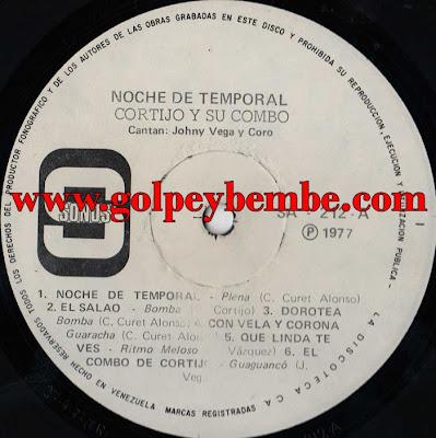 Cortijo & Johnny Vega - Noche de Temporal A