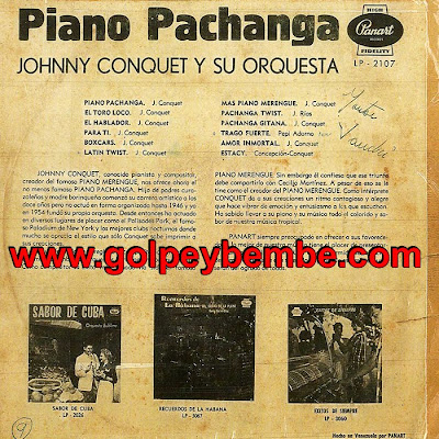 Johnny Conquet - Piano Pachanga Back