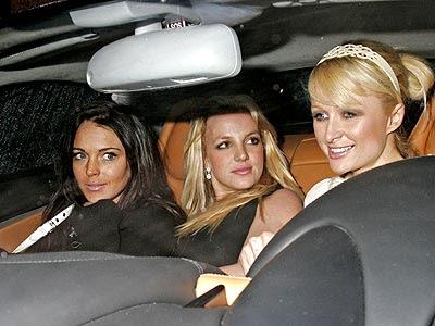 Lindsay Lohan, Britney Spears y Paris Hilton, Trío de polé