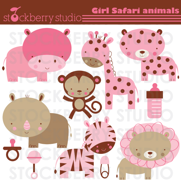 stockberry studio baby safari animals