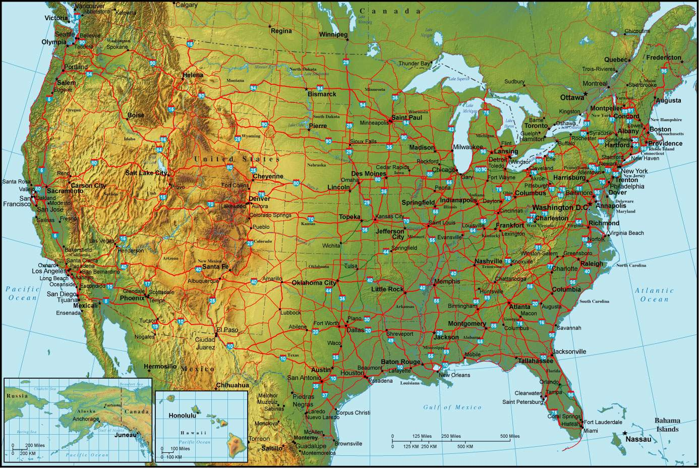 US Elevation And Elevation Maps Of Cities Topographic Map Contour - Us states by elevation