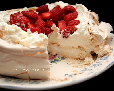 Table for 2.... or more: Strawberry Pavlova