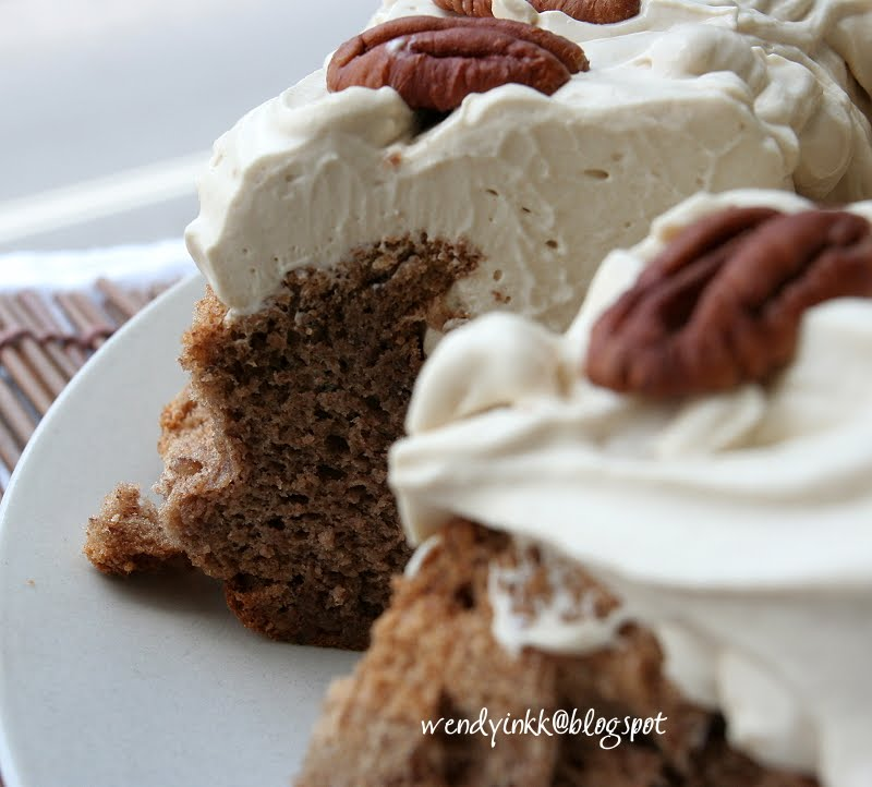 ... for 2.... or more: Sybil's Pecan Torte with Coffee Cream (Flourless