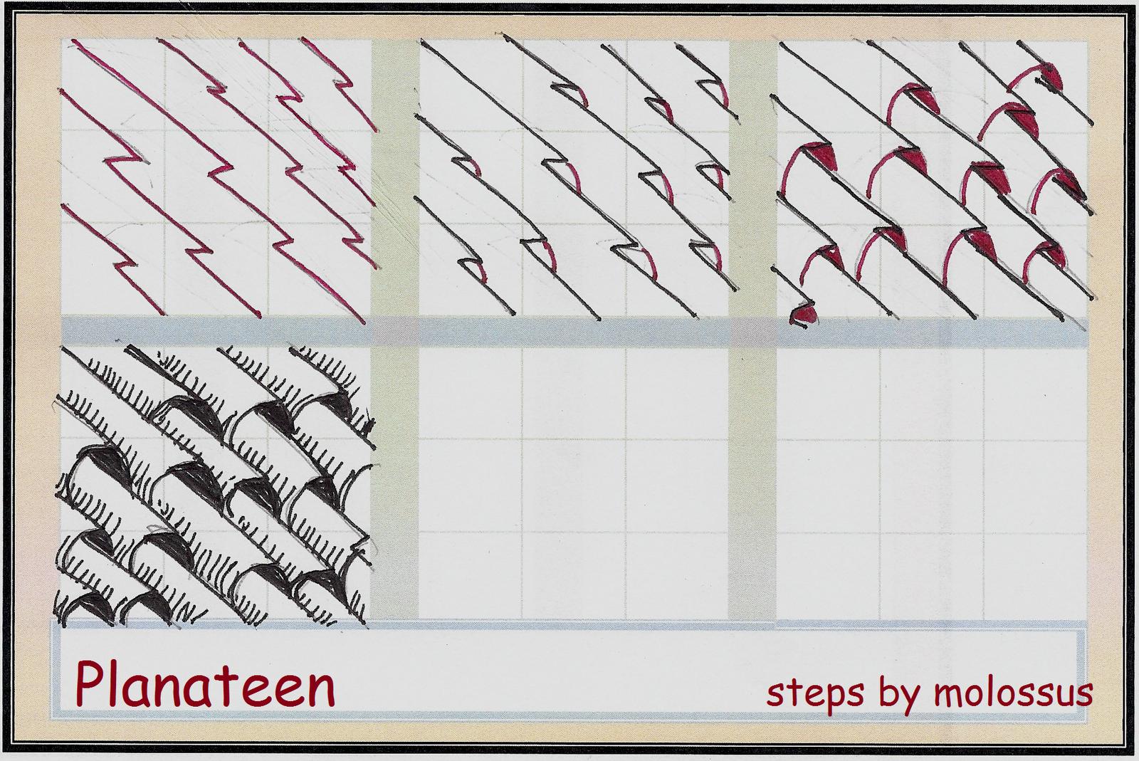 Zentangles Patterns Step By Step My tangle pattern: Pla...