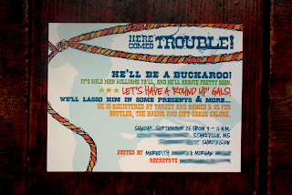 western theme baby shower invitation   bridal shower birthday cowboy theme http://www.frostedevents.com  DC MD VA