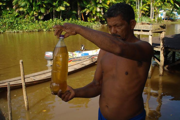 A água das comunidades ribeirinhas da Amazônia