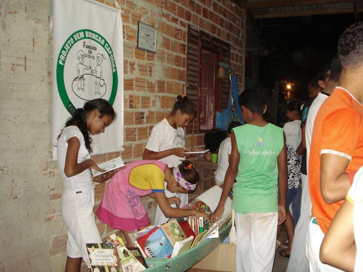 BArca das Letras no Projeto Vem Brincar Capoeira