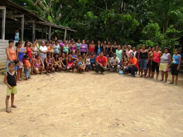 Participando de Oficina no Lago do Ajuruxi - Amapá