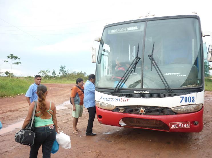 Transporte que leva à minha comunidade Carmo do Macacoari/AP