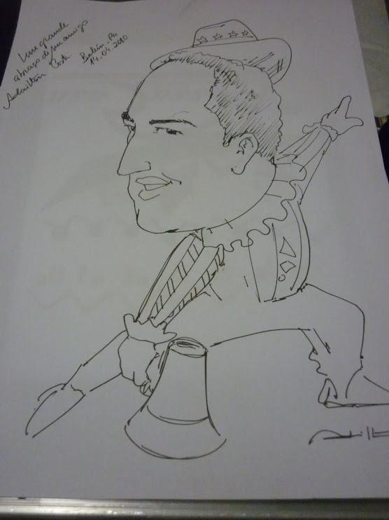 Caricatura do Palhaço Ribeirinho Jonas Banhos