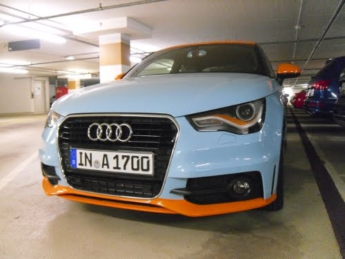 gulf livery audi a1 spotted at ingolstadt hq. Black Bedroom Furniture Sets. Home Design Ideas