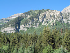 The back side of Mt. Timpanogos