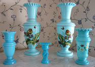 Collecting Blue Bristol Glass Vases