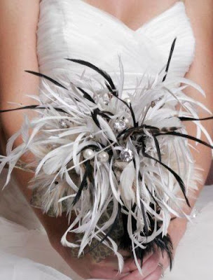 Feather Bouquets Are A Chic Alternative To Traditional Wedding Bouquets