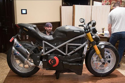 life-size Motorcycle wedding cake