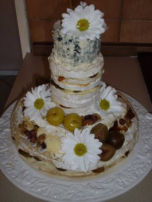 wedding cake made out of cheese