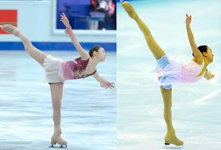 左:キムヨナ 右:浅田真央