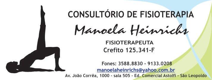 MANOELA HEINRICHS - FISIOTERAPEUTA