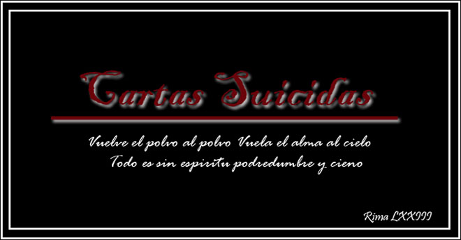 Cartas suicidas