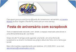 Festa de Aniversário com Scrapbook
