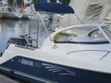 Vår nya båt Örnvik 550 som vi köpte i slutet av aug.