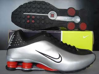 Nike Shox R4 Cromado Preto Prata E Vermelho