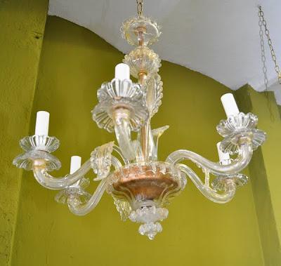 Lampara ara a de cristal veneciano n 12 lamparas cebria - Lamparas cristal antiguas ...