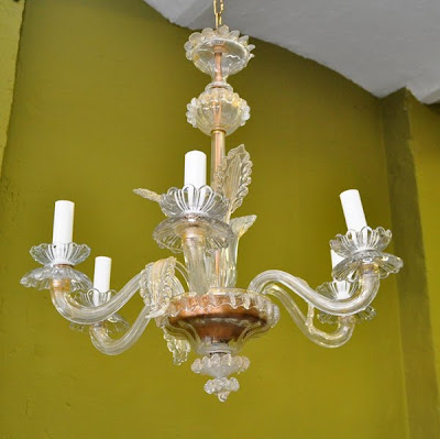 Lampara ara a de cristal veneciano n 12 lamparas cebria - Lamparas de arana de cristal ...