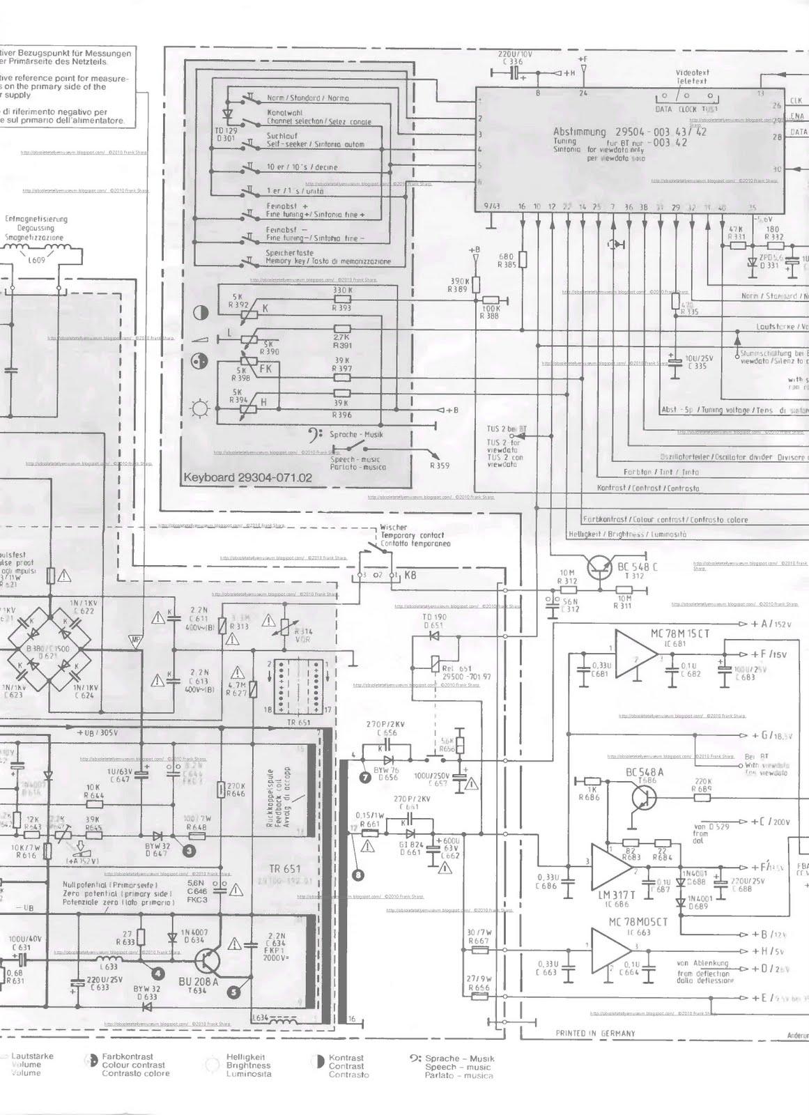 Obsolete Technology Tellye Grundig Super Color C7443 Serie F 3022 Shockley Sawtooth Wave Generator Circuit Schematic Pdf Format The Invention Relates To A Blocking Oscillator Type Switching Power Supply For Supplying Electrical Equipment Wherein Primary Winding Of