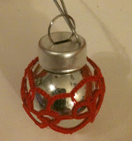 tiny thread tatted ornament