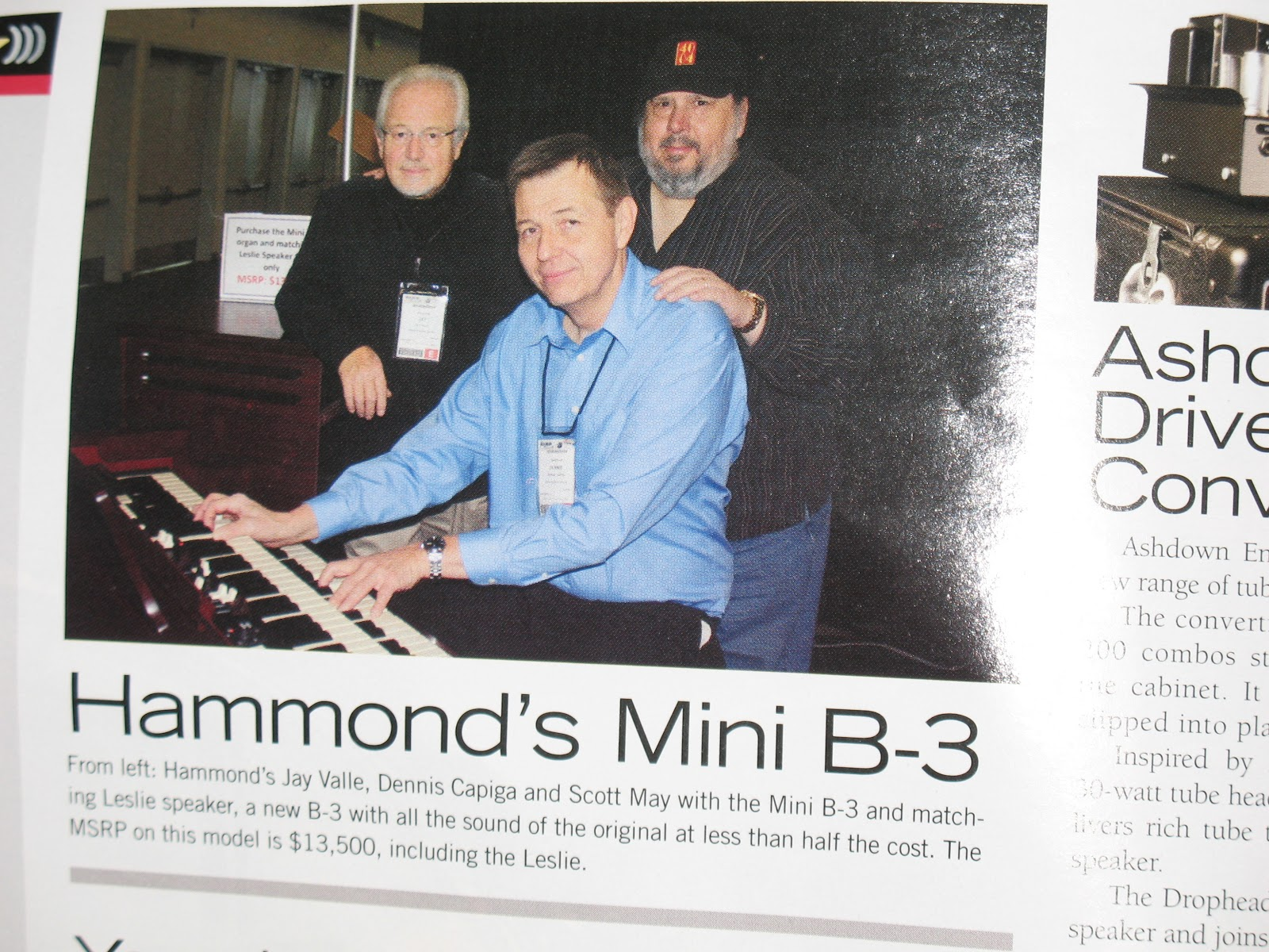 Jon hammond day 1 h ttp www jonhammondband com news html from namm
