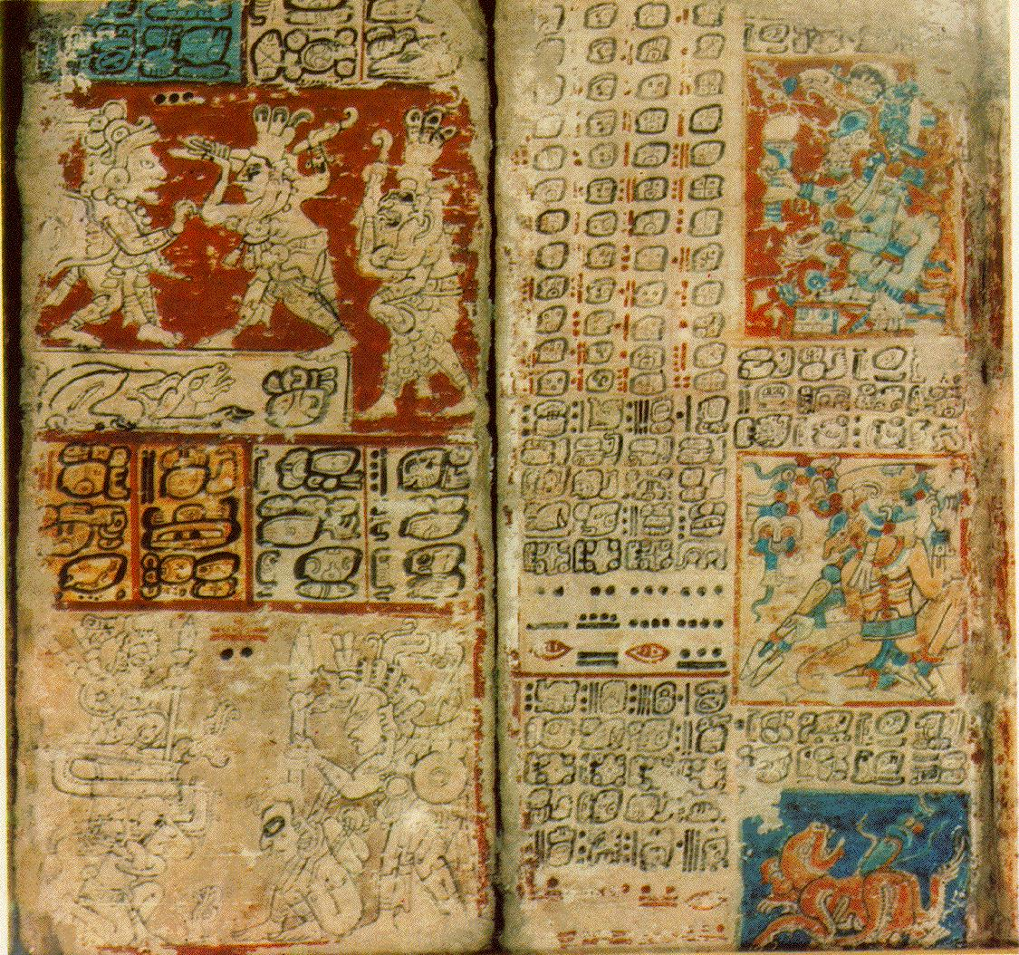 C�dice del Libro Chilam Balam de la civilizaci�n Maya