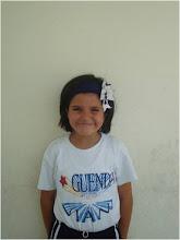 Marian Morales Quinto de 5º A, 2º lugar en  oratoria  con  el tema: la televisión y la familia
