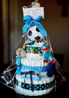 Little All Star Small 3 Tier SGD Diaper Cake