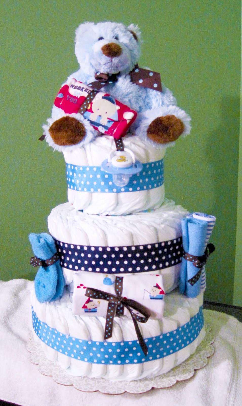 Little Sailor Small 3 Tier SGD Diaper Cake