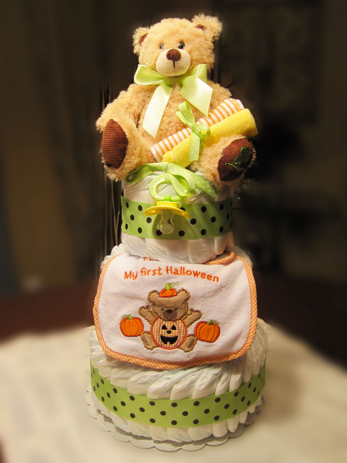 Baby's First Halloween Small 3 Tier SGD Diaper Cake