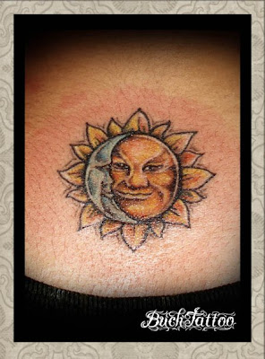 sun tattoo designs on Smile Sun Moon Tattoo Designs