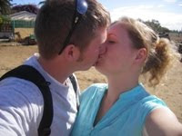 Kissing before our camel ride - 2007
