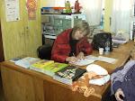 Autógrafos na Biblioteca da Escola Leocádia