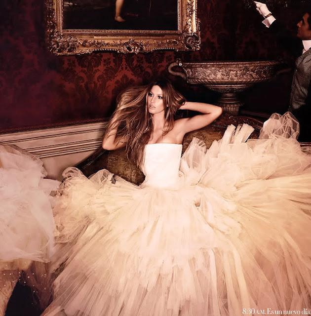Gisele Bündchen: por Karl Lagerfeld en Harper's Bazaar