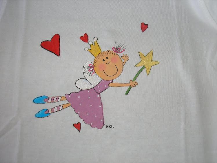 T-shirt de fada com estrela