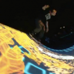 Tron Legacy Skateboarding Light Show 5
