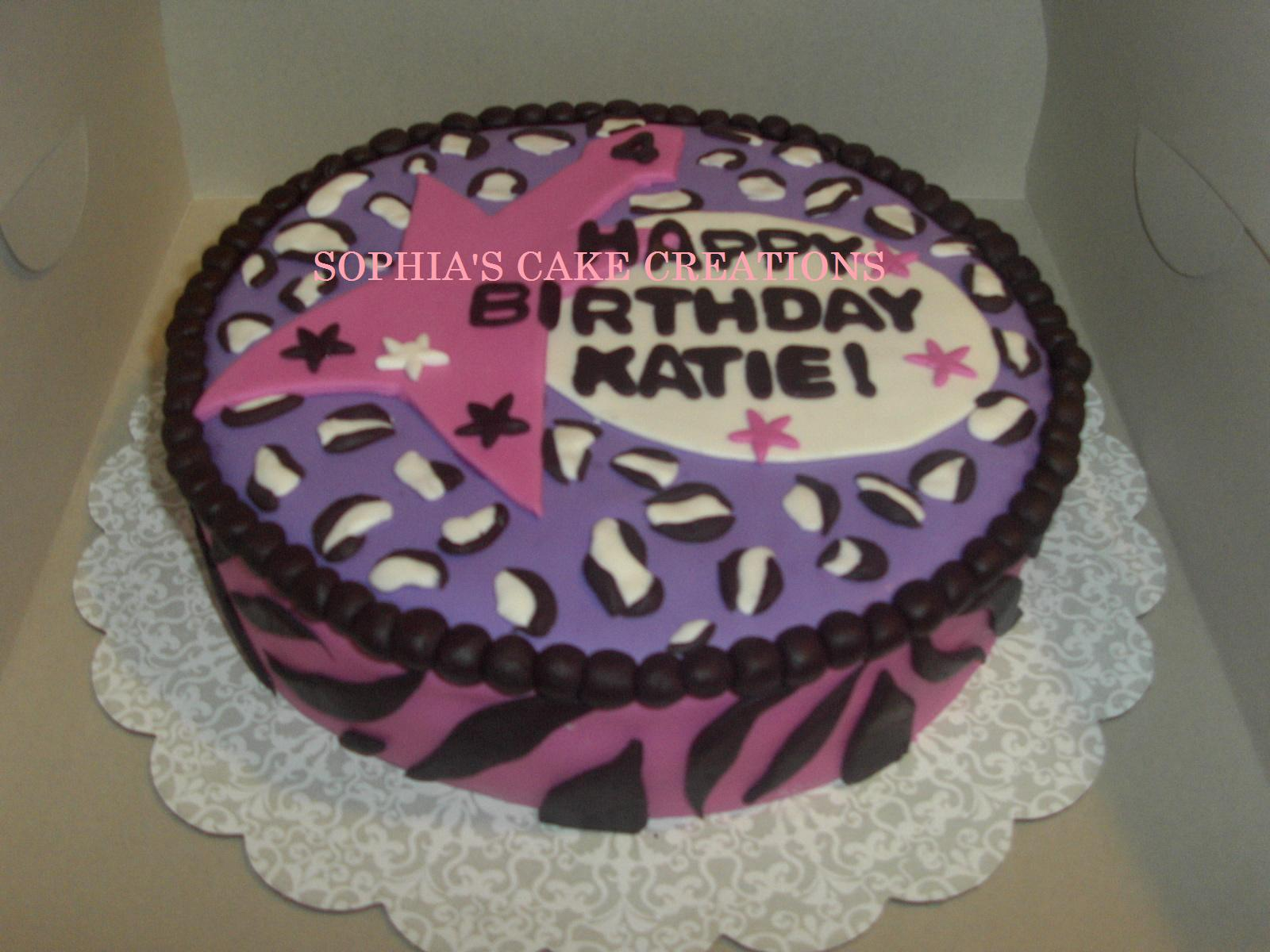 Rock Girl Birthday Cake http://www.sophiascakecreations.com/2010/04/this-cake-was-made-for-little-girls-4th.html