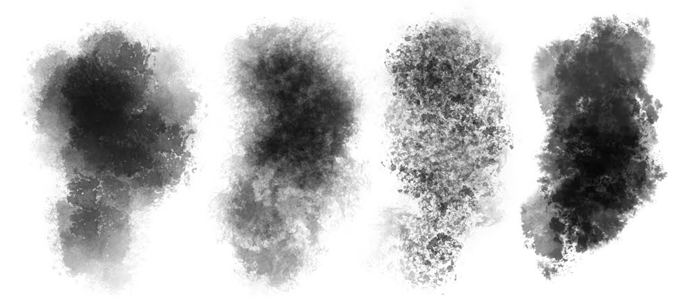 Brush Texture : These were brush textures made with watered down ink.