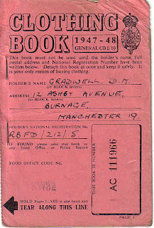 Clothing book, Second World War, World War Two, World War 2, WWII, History, Home Front, Manchester, Ration book, Rationing