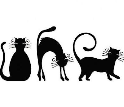 Fort la cortadura petit chat noir cherche nom - Chat dessin noir et blanc ...