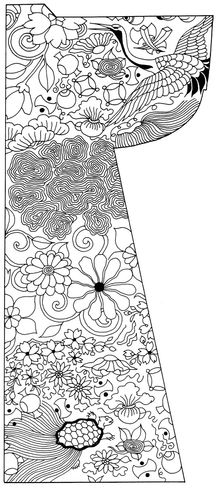 1000 images about line drawings asian on pinterest Coloring book japan